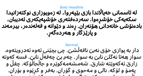 Preview for Fedra Multiscript Bold