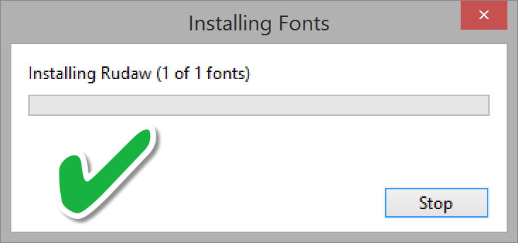 Waiting for font installation to finish